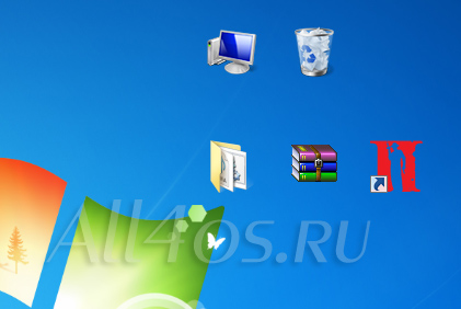 Как убрать имена у ярлыков и значков в Windows 7