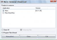 Nero General Clean Tool - удаление программ Nero с компьютера
