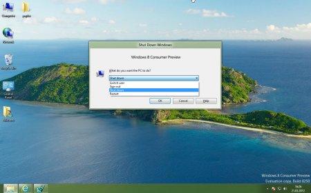Как выключить компьютер в Windows 8