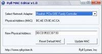 Ryll MAC Editor - программа для изменения MAC адреса