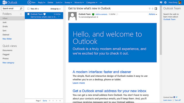 Outlook - новая почта от Microsoft