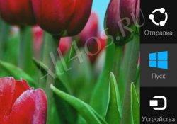 Отключение боковой панели Charms Bar в Windows 8