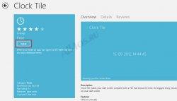 Добавляем время и дату на плитку стартового экрана (Для Windows 8 RTM)