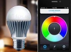 LED лампочка управляемая смартфоном