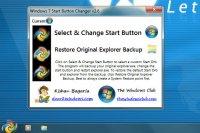 Start Button Changer 2.6 - меняем кнопку Пуск в Windows 7
