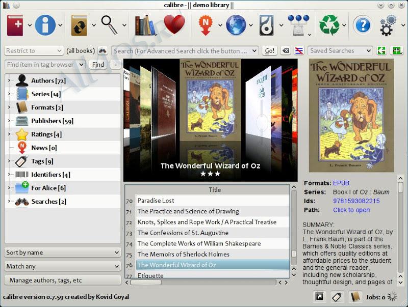 Программы каталог электронных книг