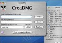 CreaDMG - программа для архивирования файлов в виртуальные образы дисков