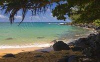 Ocean Shore - тропический берег океана, заставка для компьютера