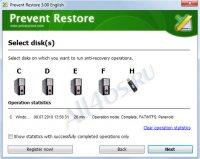 Prevent Restore - программа для удаления файлов без возможности восстановления