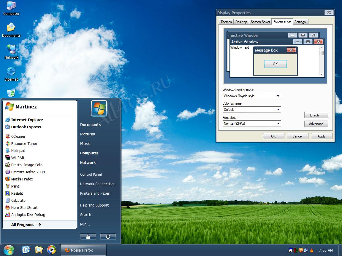 Темы на windows xp компьютер скачать бесплатно