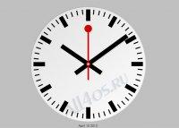 Swiss Clock - заставка в виде вокзальных швейцарских часов