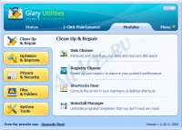 Glary Utilities - программа для повышения производительности компьютера