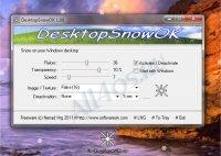 DesktopSnowOK - падающие снежинки на рабочем столе