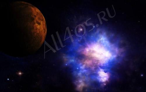 Видео обои - Свечение галактики