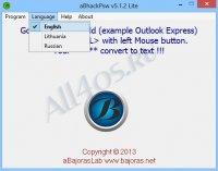 aBhackPsw Lite - программа для просмотра пароля под звездочками