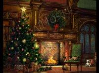 Заставка с камином на Рождество