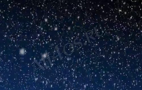 Видео обои - Ночной снегопад