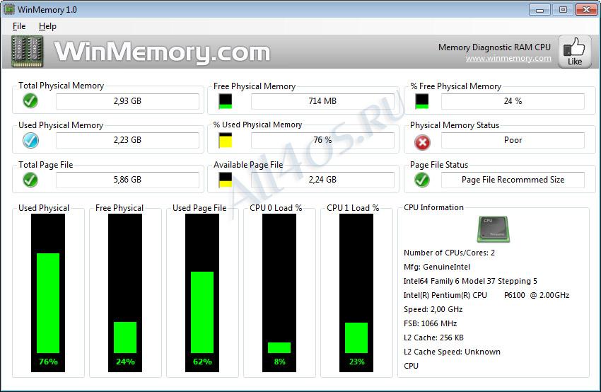 Программа для диагностики оперативной памяти скачать