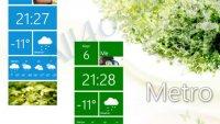 Metro Home – часы и прогноз погоды в стиле Метро