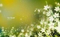 Заставка с часами - Цветы надежды