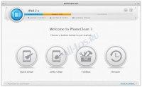 PhoneClean - программа для очистки памяти iPhone, iPad и iPod устройств