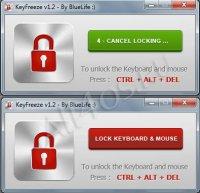 KeyFreeze - программа для быстрой блокировки клавиатуры и мышки