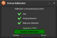 Xvirus Adblocker – программа для блокировки всплывающих окон и баннеров