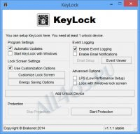 KeyLock - программа для блокировки компьютера с помощью флешки