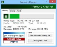 Memory Cleaner - программа для оптимизации оперативной памяти компьютера