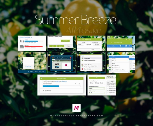 Summer Breeze — летняя тема для Windows 8.1