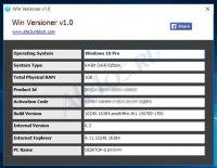 Win Versioner - программа для сбора сведений об операционной системе