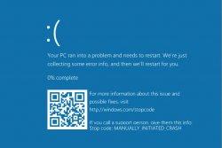 QR-код добавят на синий экран смерти Windows 10