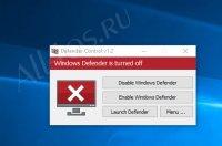 Defender Control — программа для отключения антивируса защитника Windows 10