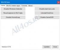 Win10Clean - бесплатный твикер для тонкой настройки Windows 10