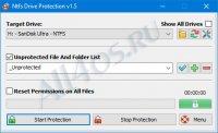 Ntfs Drive Protection – программа для защиты USB-флешек от записи