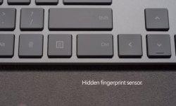 Новая клавиатура Microsoft со сканером отпечатком пальца